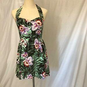 MINK PINK Tropical Tiki halter dress SIZE Medium